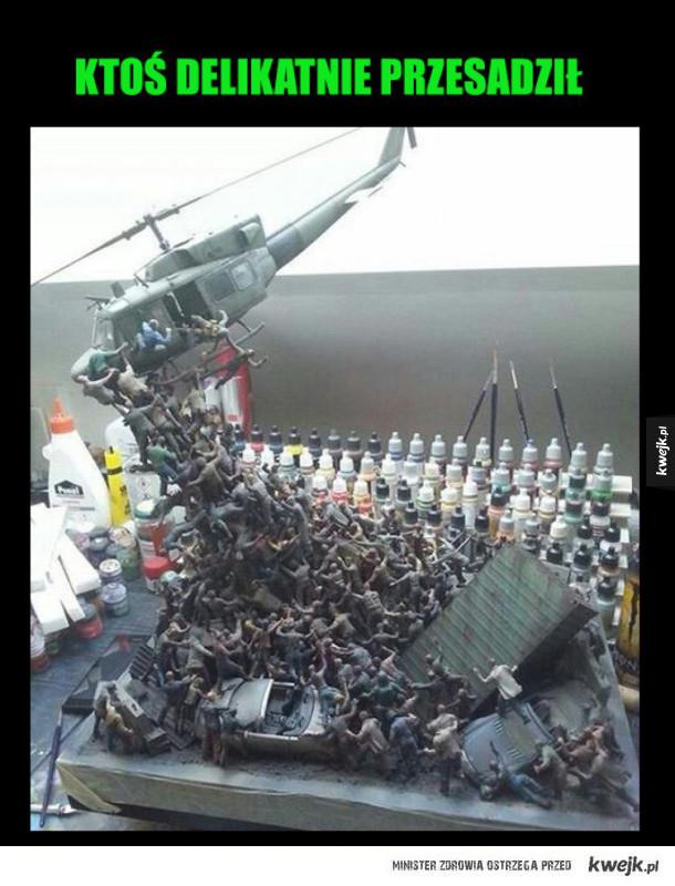 model z helikopterem