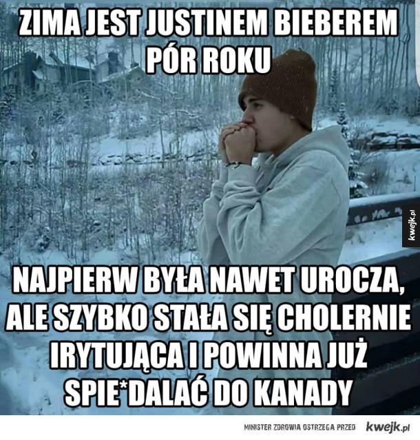 Zima jest jak Bieber