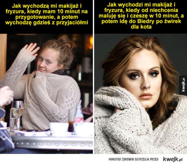 Makijaż i fryzura