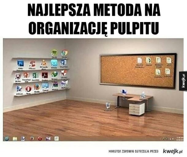 Super zorganizowany pulpit