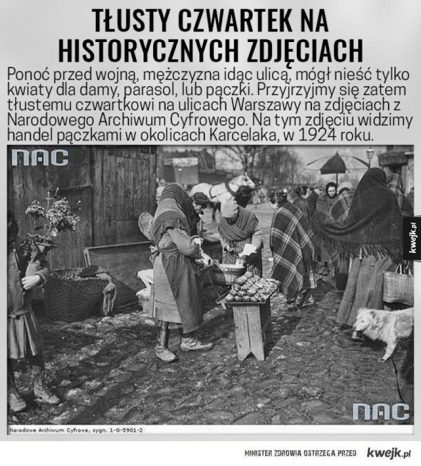 Tłusty czwartek na historycznych zdjęciach