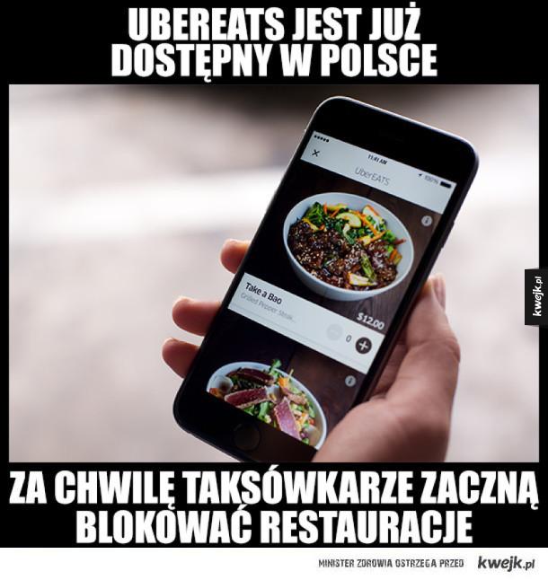 Uber Eats już w Polsce