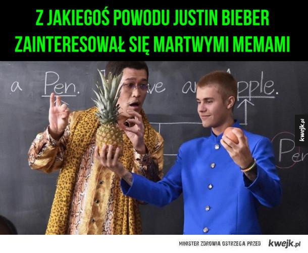 Nowe hobby justina - Justin bieber martwe memy pineapple pen