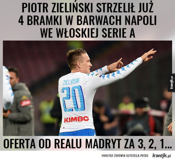 Szarża Zielińskiego w Serie A