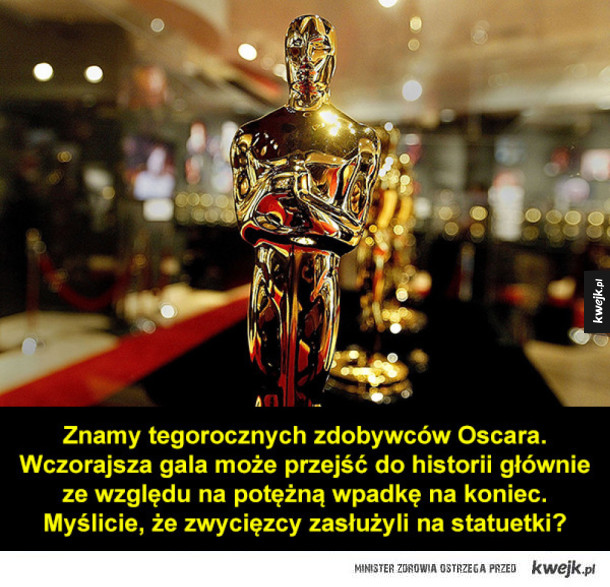 Zwycięzcy Oscarów 2017