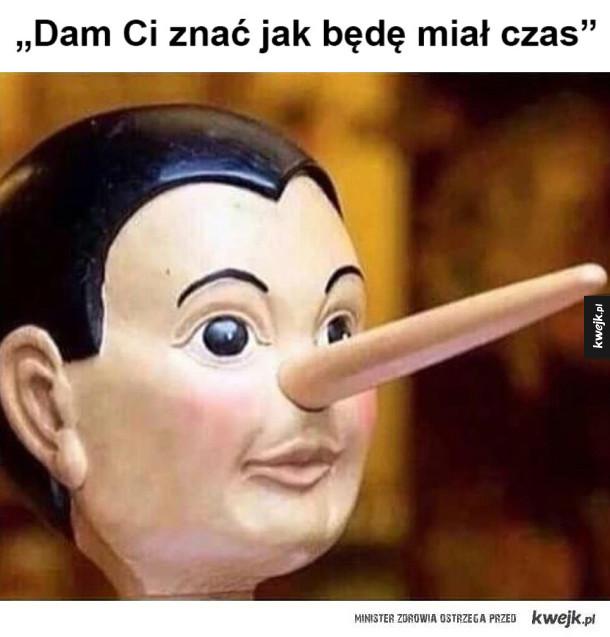 Zawsze tak mnie okłamują