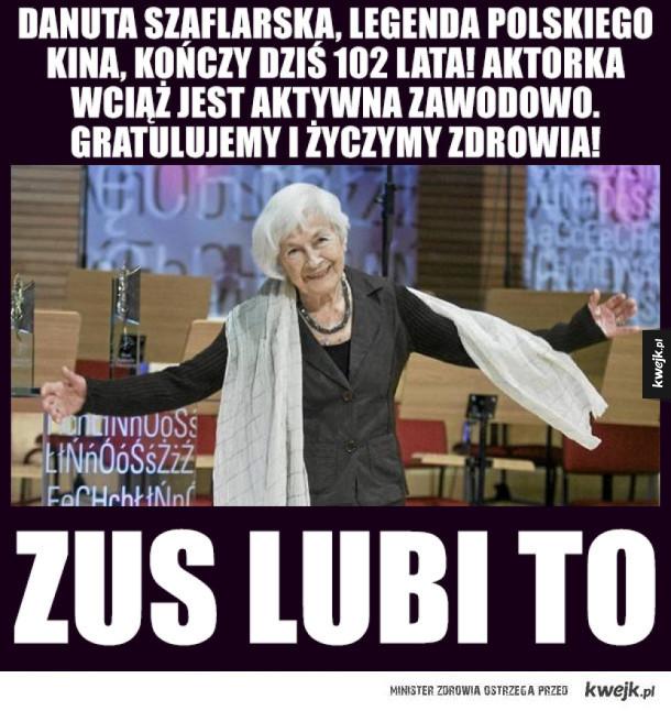 Legenda polskiego kina kończy dzisiaj 102 lata!