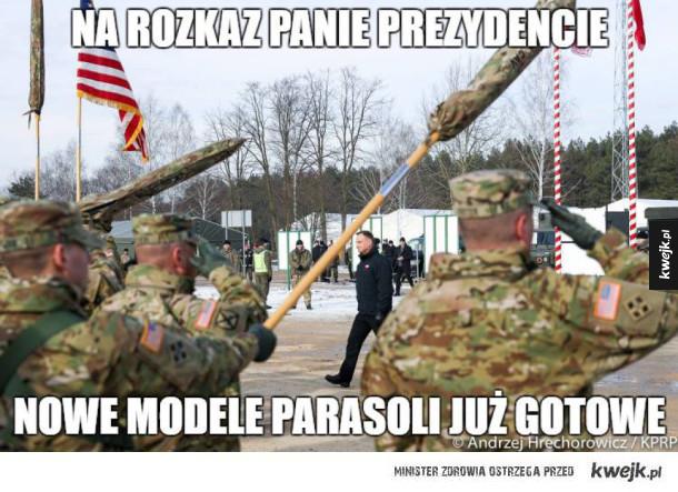 Duda - Na rozkaz panie prezydencie nowe modele parasoli już gotowe. Duda cenzoduda czy był pan na otwarciu?