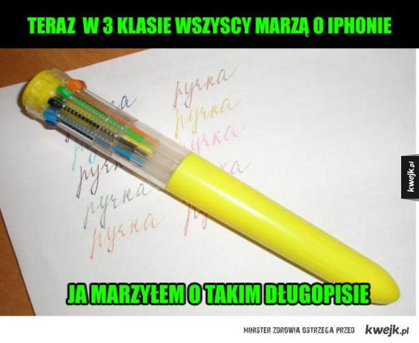 Długopis wielokolorowy