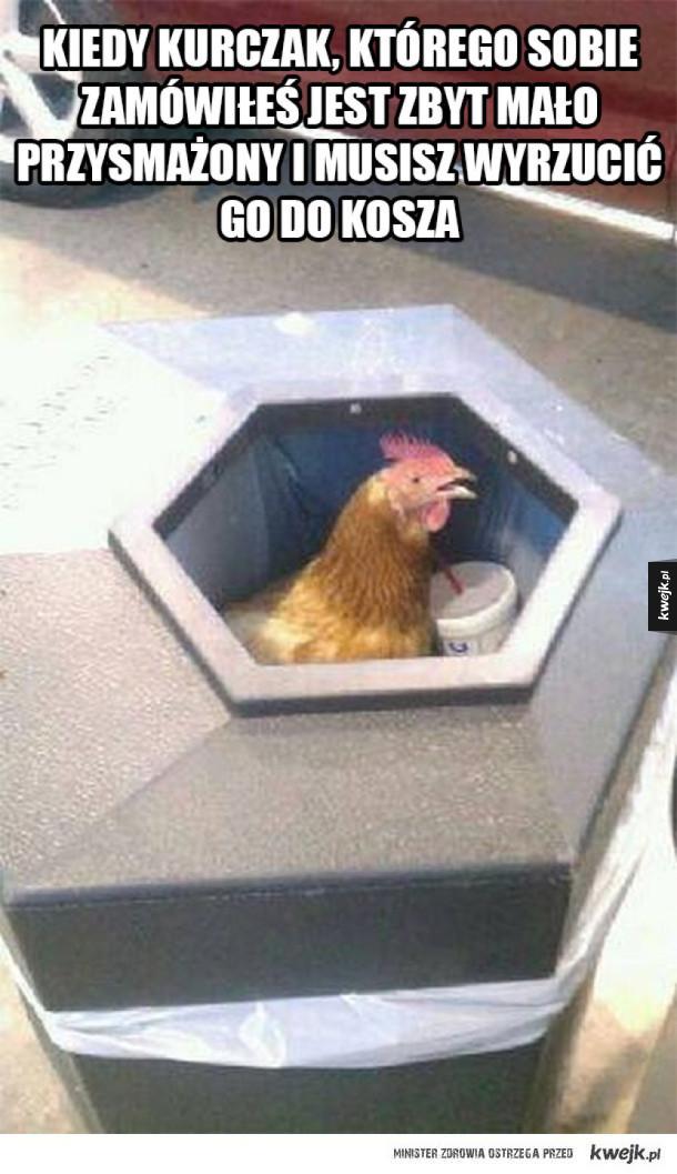 Zbyt surowe kurczaczki