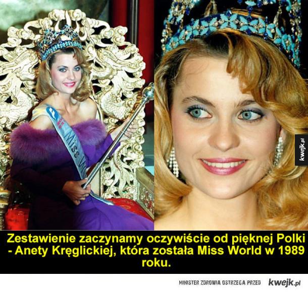 Zdobywczynie tytułu Miss World z różnych okresów