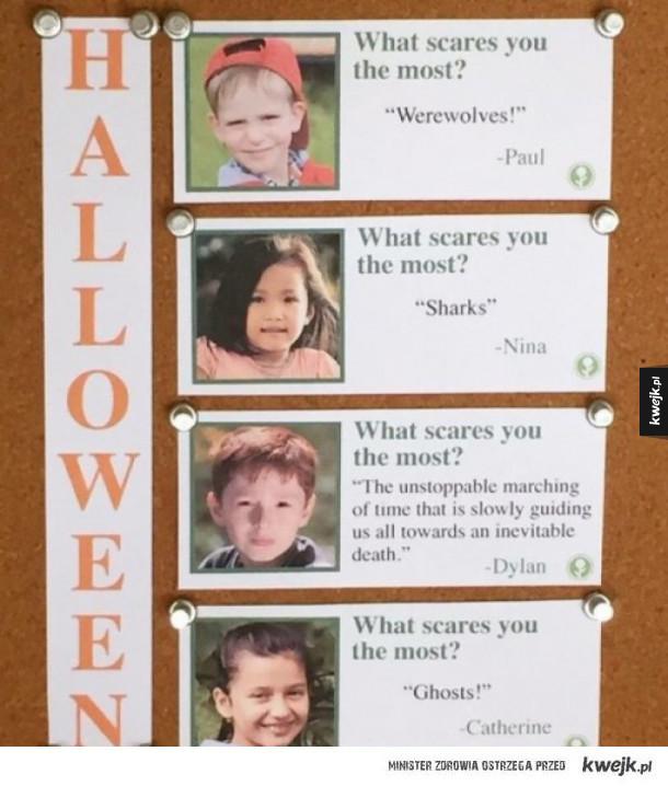 Co cię najbardziej przeraża?