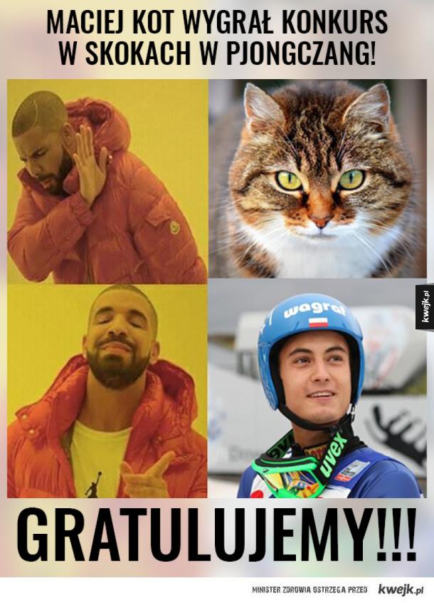 Kot wygrywający skoki jest tylko jeden!