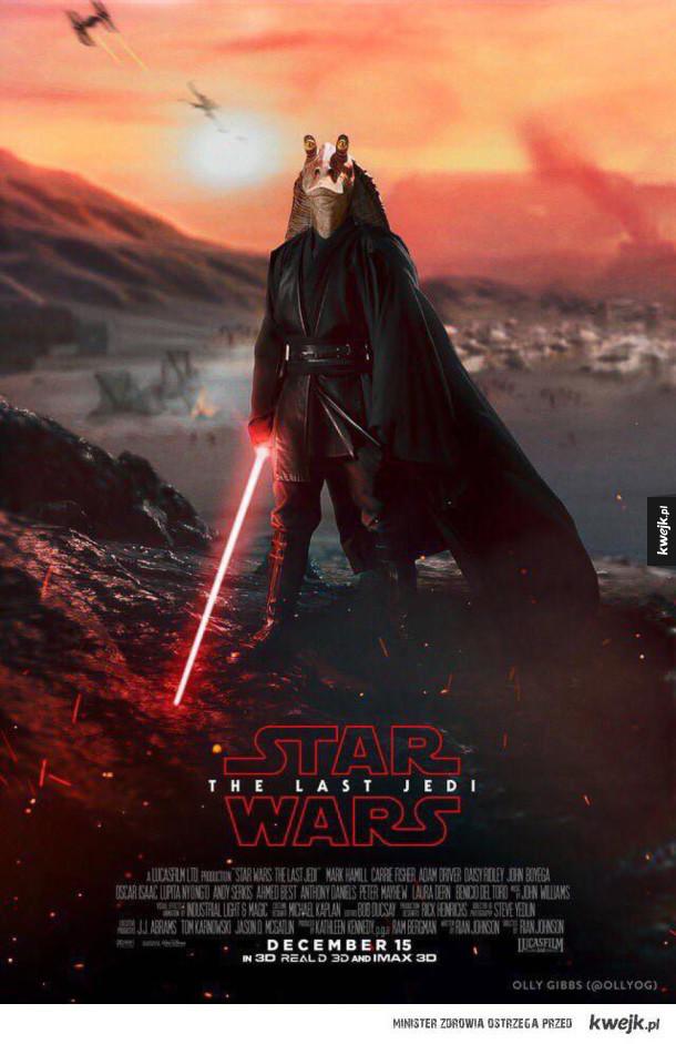 Gwiezdne wojny plakat sith lord jar-jar binks