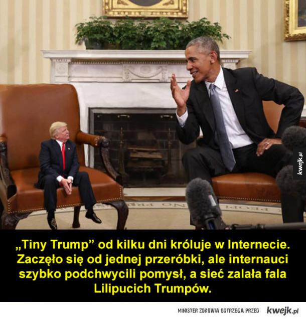 Malutki Trump: prezydent kontra Photoshop