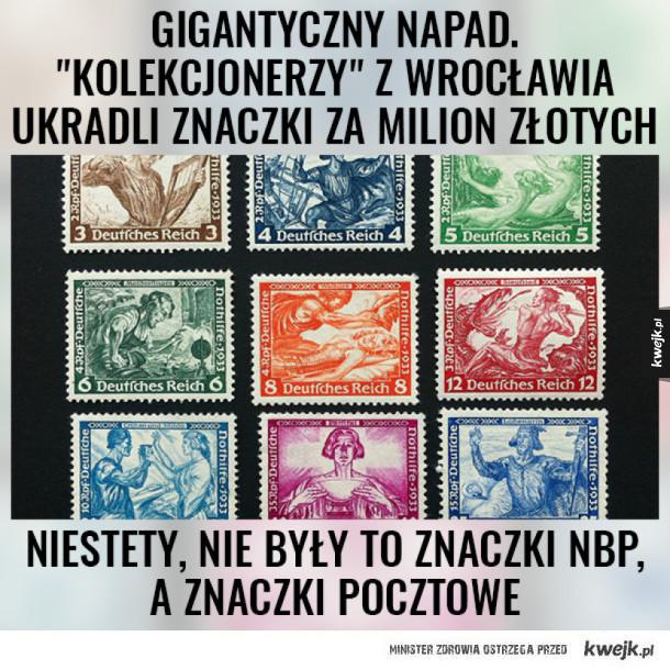 Jak kraść znaczki, to tylko te z NBP :)