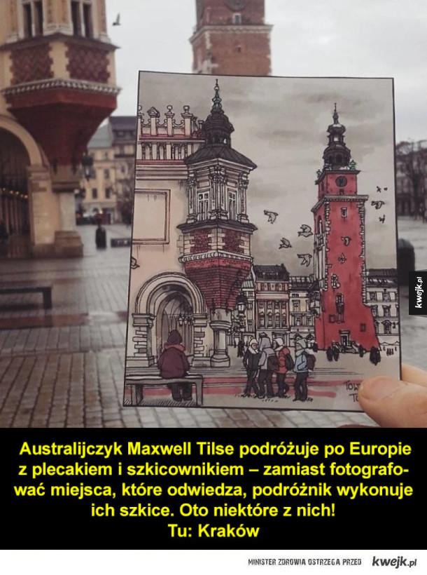 Szkice zamiast zdjęć z podróży