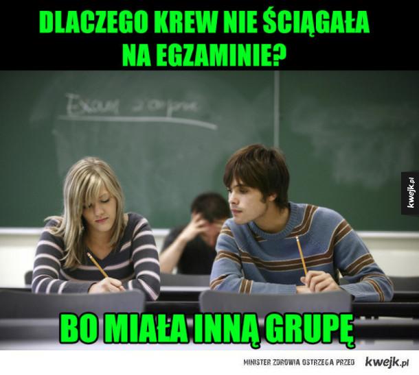 ściąganie na egzaminie?