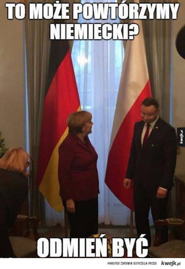 Najlepsze memy po wizycie Angeli Merkel w Polsce