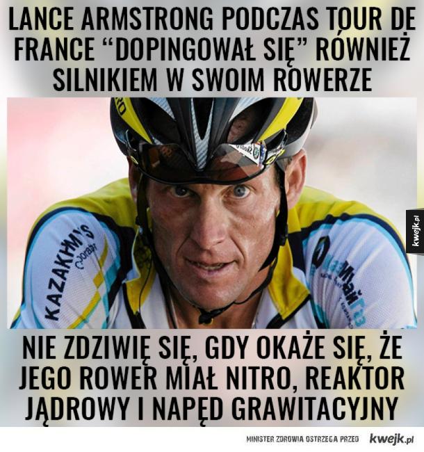 """""""Wspomagacze"""" Lance Armstronga"""