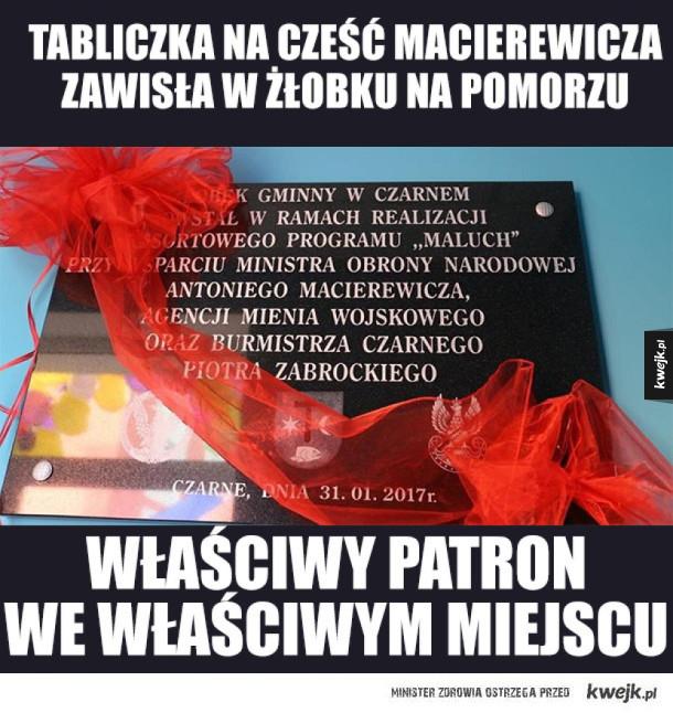 Macierewicz patronem żłobka