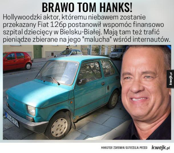 Akcja z Fiatem 126p dla Hanksa ma dobre zakończnie :)