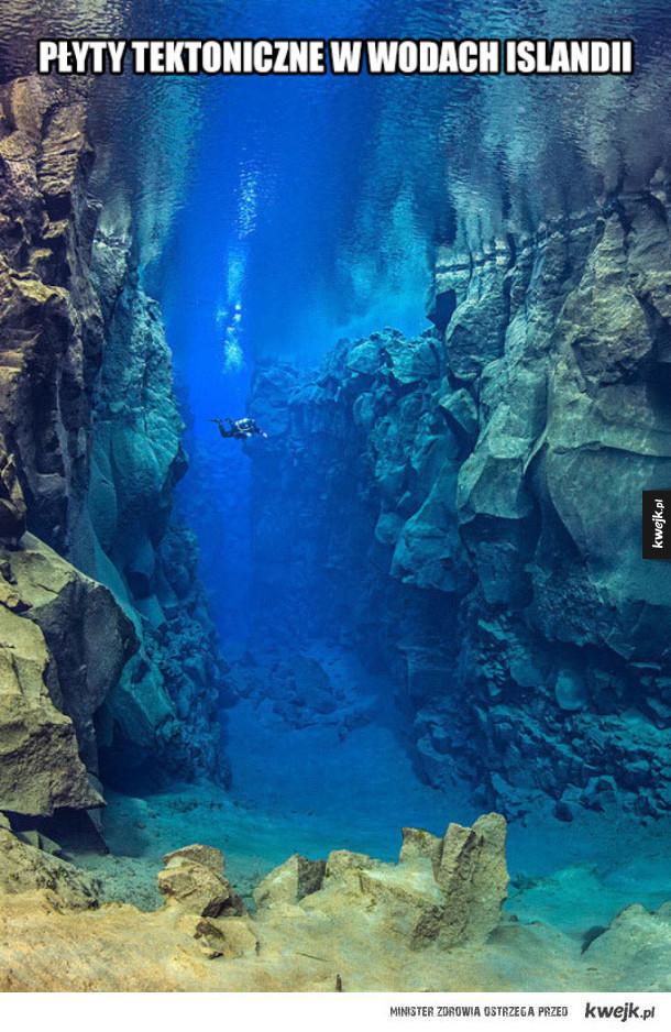 Płyty tektoniczne w wodach Islandii