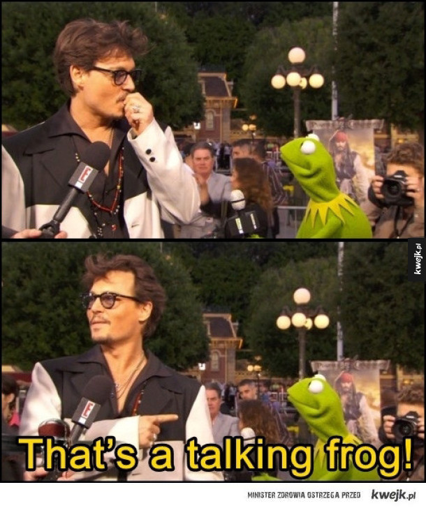 Johnny Depp i Kermit Żaba