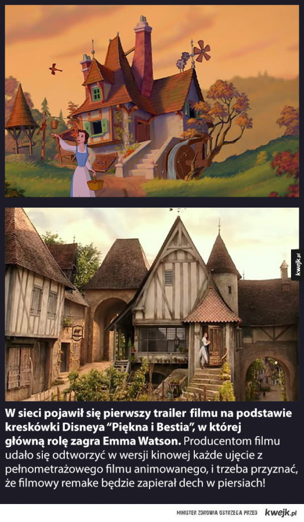 """Niesamowite! W kinowej wersji """"Pięknej i Bestii"""" filmowcy odtworzyli każde ujęcie  z wersji animowanej!"""