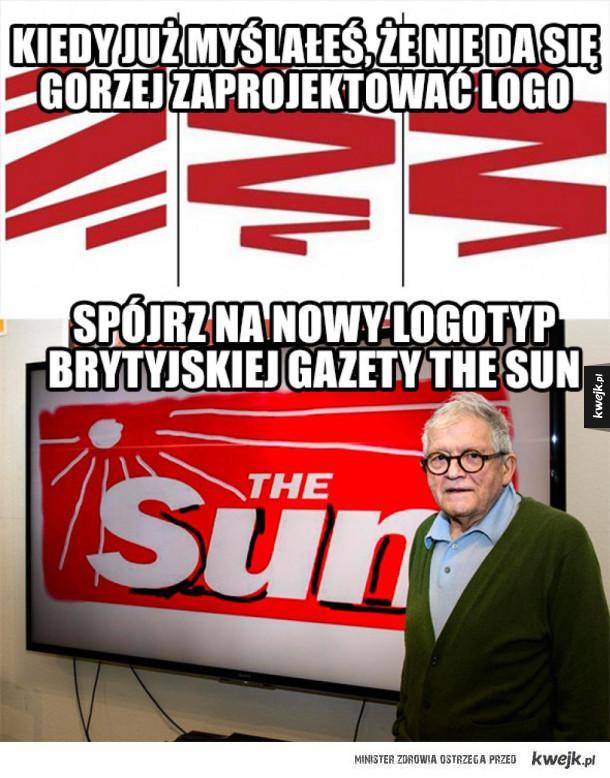 Brytyjski The Sun ma nowe logo ;_;