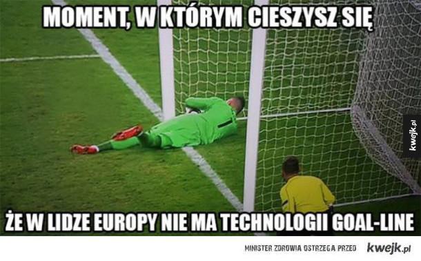Memy po meczu Legi Warszwa z Ajaksem Amsterdam - Moment, w którym cieszysz się że w lidze europy nie ma technologii goal-line