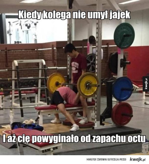 Mistrzowie Techniki Sportów Siłowych - Kiedy kolega nie umył jajek i aż cię powyginało od zapachu octu