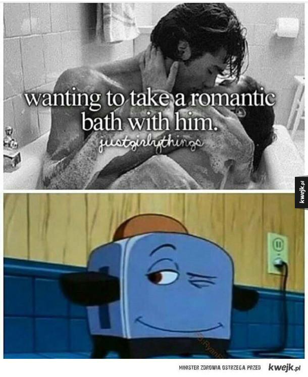 Romantyczna kąpiel z nim