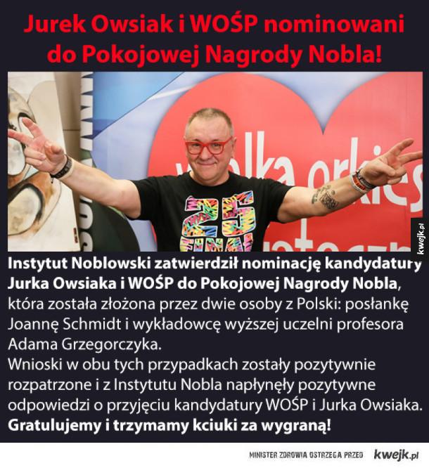 Brawo Jurek Owsiak i WOŚP!