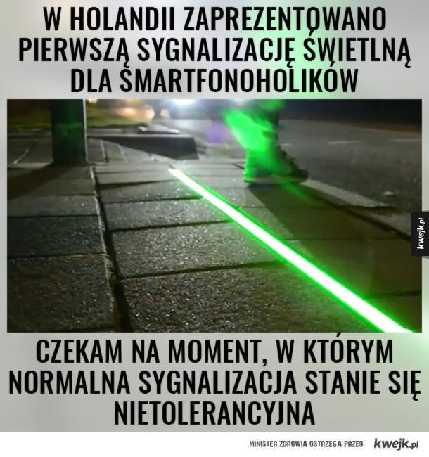 Sygnalizacja dla smartfonoholików