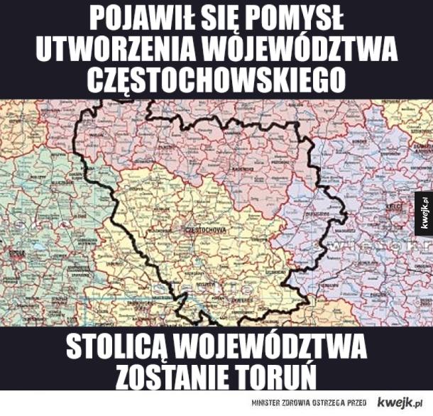 Nowe województwo w Polsce