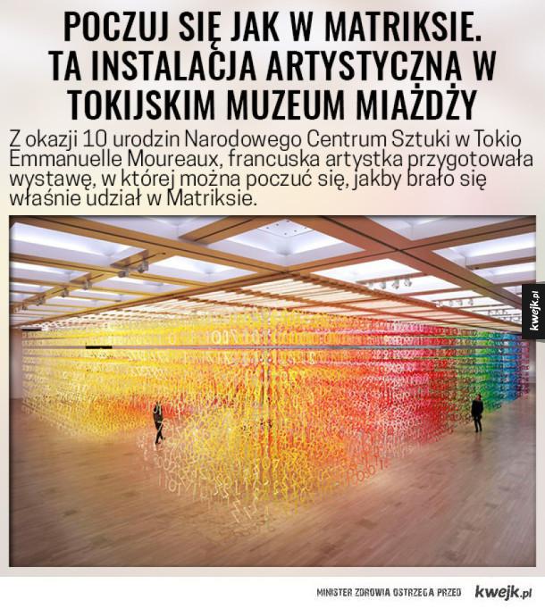 Poczuj się jak w Matriksie. Ta instalacja artystyczna w tokijskim muzeum po prostu miażdży