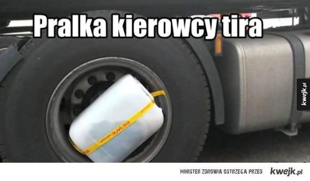 Pralka kierowcy