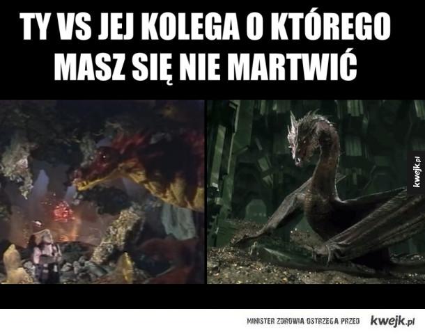 Smaug - Ty vs jej kolega o którego masz się nie martwić. Smaug hobbit ruski hobbit