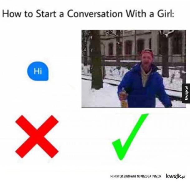 jak tu zacząć rozmowę