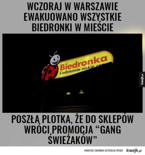Ewakuacja warszawskich Biedronek