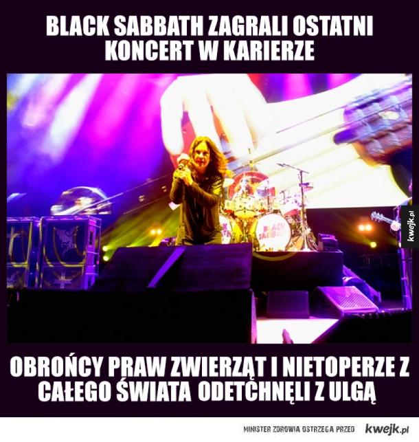 Ostatni koncert Black Sabbath