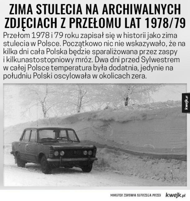 Zima stulecia w Polsce w roku 1978/79. Gdy zobaczysz te zdjęcia zrobi Ci się naprawdę zimno