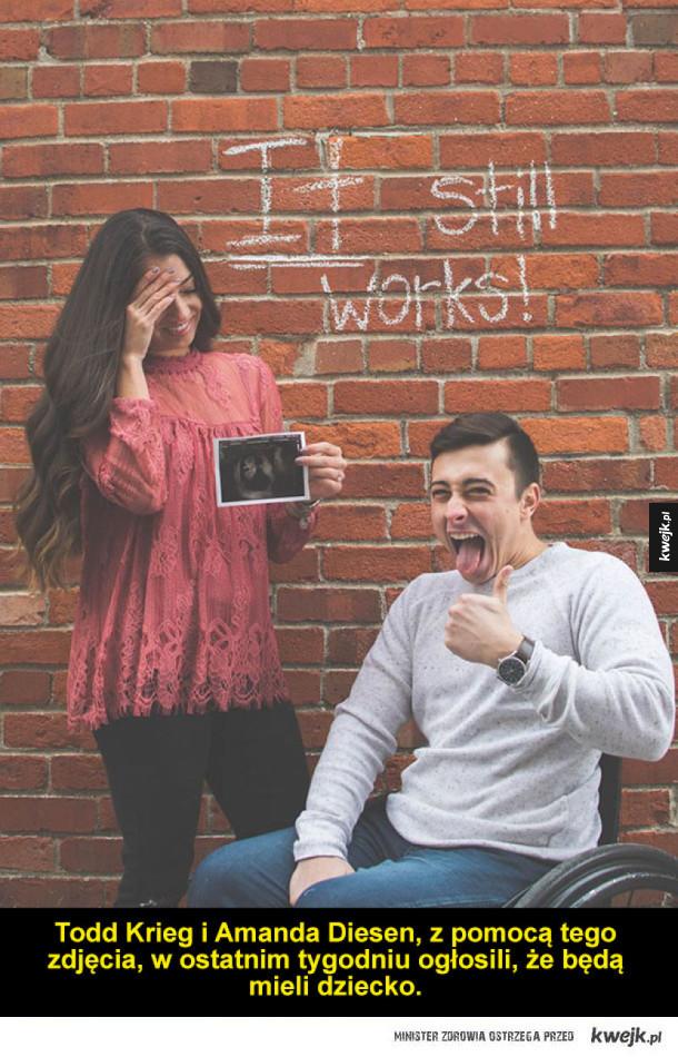 Sparaliżowany mężczyzna myślał, że nie będzie mógł mieć dzieci - tym zdjęciem ogłosił światu, że będzie ojcem