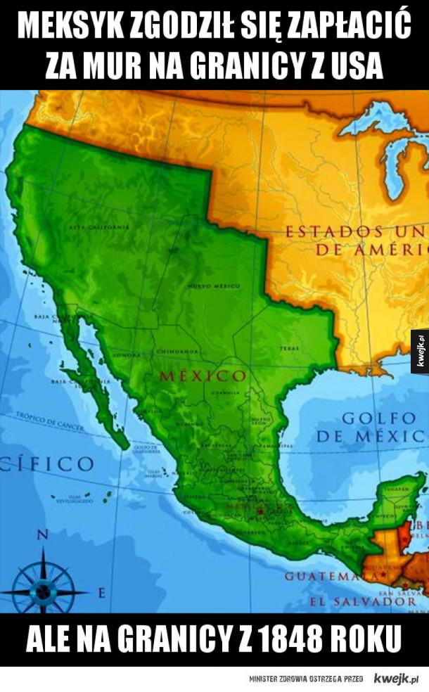 Mur na granicy z USA