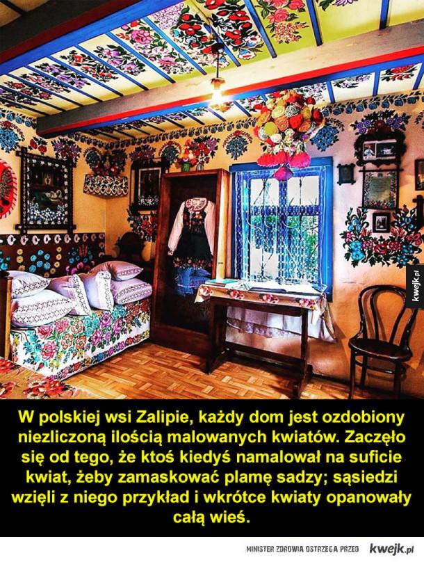 Kwiecista wioska w Południowej Polsce