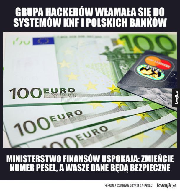 Atak hackerski na systemy informatyczne polskich banków i KNF