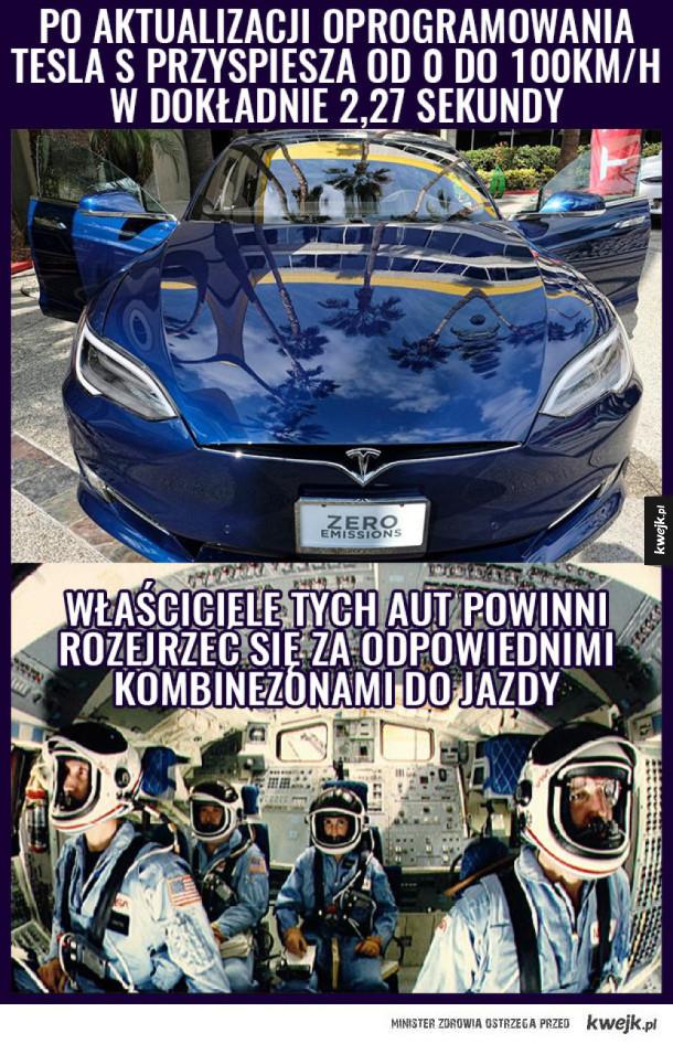 Tesla S z przyspieszeniem 2,27 sekundy na 100km!