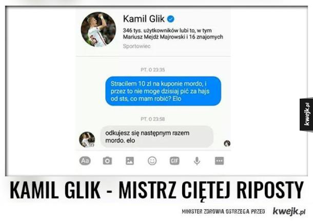 Złota porada Kamila Glika