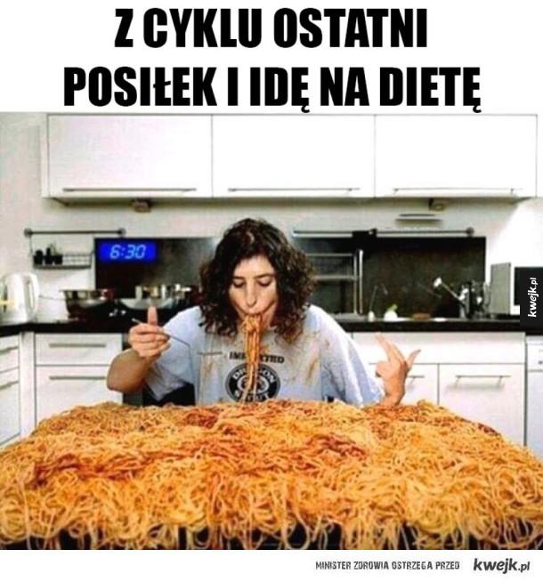 Ostatni posiłek przed dietą